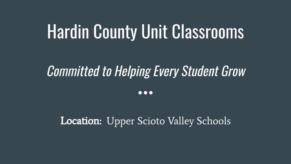 Hardin County Unit - Slide 1