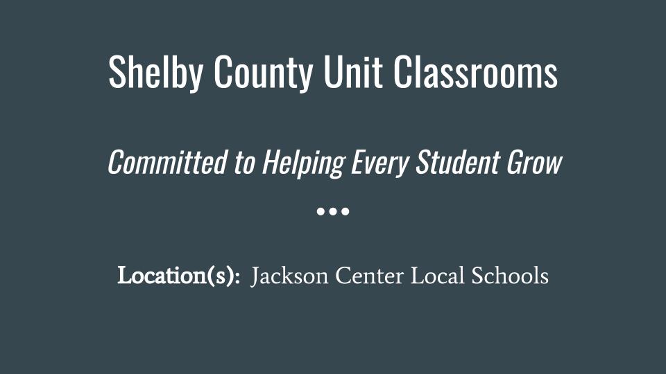Shelby County Unit - Slide 1